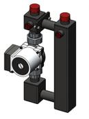 Насосный модуль прямой 25-60/130 (насос Grundfos)