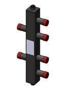 Гидроразделитель вертикальный универсальный, 2 контура, до 50 кВт