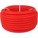 Труба гофрированная ПНД, цвет красный, наружным диаметром 20 мм для труб диаметром 14-18 мм