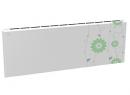 Дизайн-радиатор Lully коллекция Незабудка 1120/450/115 (цвет светло-зеленый) в стену с термостатикой