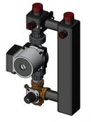 Насосный модуль со смесителем под привод СП25/40 (Grundfos 130 мм+клапан)