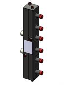 Гидравлический коллектор вертикальный, 3 контура, до 70кВт