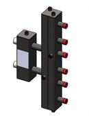 Гидроразделитель с коллектором вертикальный, 3 контура, до 70 кВт