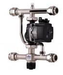 Насосно-смесительный узел с термостатическим клапаном STOUT 30-60°C, с насосом UPSO 25-65, 130 mm