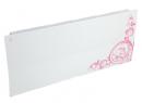 Дизайн-радиатор Lully коллекция Росток 1120/450/115 (цвет розовый) боковое подключение