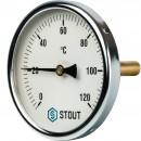 """Термометр биметаллический с погружной гильзой. Корпус Dn 100 мм, гильза 75 мм 1/2"""""""
