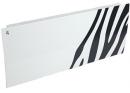 Дизайн-радиатор Lully коллекция Зебра 1120/450/115 (цвет черный) боковое подключение