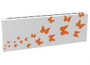 Дизайн-радиатор Lully коллекция Бабочки 1120/450/115 (цвет оранжевый) в стену с термостатикой