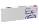 Дизайн-радиатор Lully коллекция Геометрия 1120/450/115 (цвет фиолетово-голубой) боковое подключение с термостатикой
