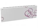 Дизайн-радиатор Lully коллекция Мыльные пузыри 1120/450/115 (цвет фиолетовый) в стену с термостатикой