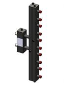 Гидроразделитель с коллектором вертикальный, 5 контуров, до 70 кВт