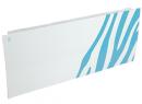 Дизайн-радиатор Lully коллекция Зебра 1120/450/115 (цвет голубой) боковое подключение