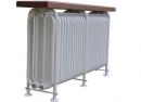 Стальной трубчатый радиатор-скамейка Завалинка РС Э 4-300-20, 1000 Вт