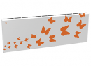Дизайн-радиатор Lully коллекция Бабочки 1120/450/115 (цвет оранжевый) нижнее подключение с термостатикой