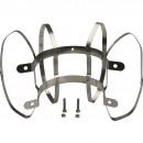 эл-т дымохода фиксатор c распорками для соединений PP-труб O80 (в шахте дымохода). нерж.сталь.