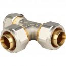 Тройник равнопроходный 32x32x32 для металлопластиковых труб винтовой