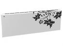 Дизайн-радиатор Lully коллекция Весна 1120/450/115 (цвет черный) в стену с термостатикой