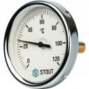 """Термометр биметаллический с погружной гильзой. Корпус Dn 80 мм, гильза 50 мм 1/2"""""""
