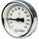 Термометр биметаллический накладной с пружиной. Корпус Dn 63 мм