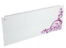 Дизайн-радиатор Lully коллекция Росток 1120/450/115 (цвет фиолетовый) боковое подключение