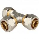 Тройник равнопроходный 26х26х26 для металлопластиковых труб винтовой
