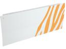 Дизайн-радиатор Lully коллекция Зебра 1120/450/115 (цвет желтый) боковое подключение