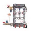 """Узел этажный для поквартирного учета тепловой энергии с автоматическим регулятором перепада давлений 3/4"""", 3 вых., ввод слева"""