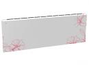 Дизайн-радиатор Lully коллекция Ирисы 1120/450/115 (цвет розовый) в стену с термостатикой