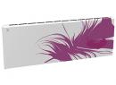 Дизайн-радиатор Lully коллекция Перо 1120/450/115 (цвет фиолетовый) в стену с термостатикой