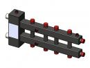 Гидроразделитель с коллектором горизонтальный, 5 контуров, до 70 кВт
