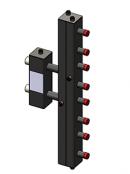 Гидроразделитель с коллектором вертикальный, 4 контура, до 70 кВт
