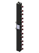 Гидравлический коллектор вертикальный, 6 контуров, до 70кВт