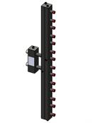 Гидроразделитель с коллектором вертикальный, 7 контуров, до 70 кВт