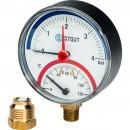 """Термоманометр радиальный в комплекте с автоматическим запорным клапаном. Корпус Dn 80 мм 1/2"""""""