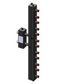 Гидроразделитель с коллектором вертикальный, 6 контуров, до 70 кВт