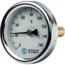 """Термометр биметаллический с погружной гильзой. Корпус Dn 63 мм, гильза 50 мм 1/ 2"""""""