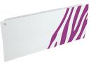 Дизайн-радиатор Lully коллекция Зебра 1120/450/115 (цвет фиолетовый) боковое подключение