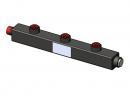 Гидравлический коллектор вертикальный, 3 контура