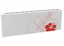 Дизайн-радиатор Lully коллекция Лилии 1120/450/115 (цвет красный) нижнее подключение