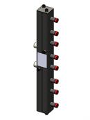 Гидравлический коллектор вертикальный, 4 контура, до 70кВт