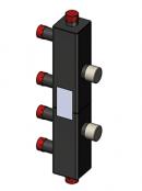 Каскадный узел вертикальный, до 3 котлов