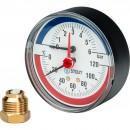 """Термоманометр аксиальный в комплекте с автоматическим запорным клапаном. Корпус Dn 80 мм 1/2"""""""