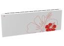 Дизайн-радиатор Lully коллекция Лилии 1120/450/115 (цвет красный) подключение в стену