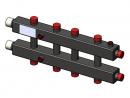 Гидравлический коллектор горизонтальный, 5 контуров, до 70кВт