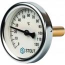 """Термометр биметаллический с погружной гильзой. Корпус Dn 63 мм, гильза 50 мм 1/2"""""""