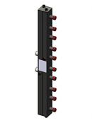 Гидравлический коллектор вертикальный, 5 контуров, до 70кВт