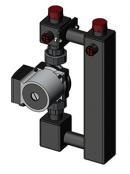 Насосный модуль прямой 25-40/130 (насос Grundfos)