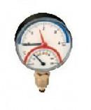 Термоманометр Caleffi 0-120°C, 0-4 бар, радиальное присоединение 1/2 дюйма, d 80 мм