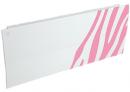 Дизайн-радиатор Lully коллекция Зебра 1120/450/115 (цвет розовый) боковое подключение