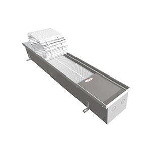 Внутрипольный конвектор с вентилятором EVA COIL- КУ - 1000, теплоотдача 754 - 1150 Вт.